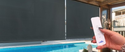 New Solar Motorised Outdoor Blinds
